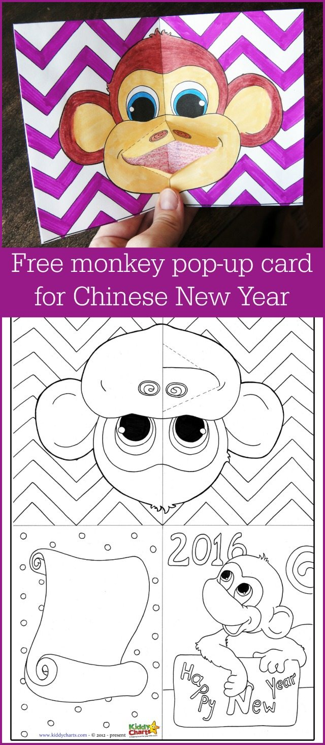 Just a gorgeous pop up money Chinese New Year card, so simple to do, but so effective. We also have a lovely Monkey colouring sheet to complement it too!