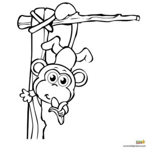 Click on the picture to get the monkey free coloring pages to colour