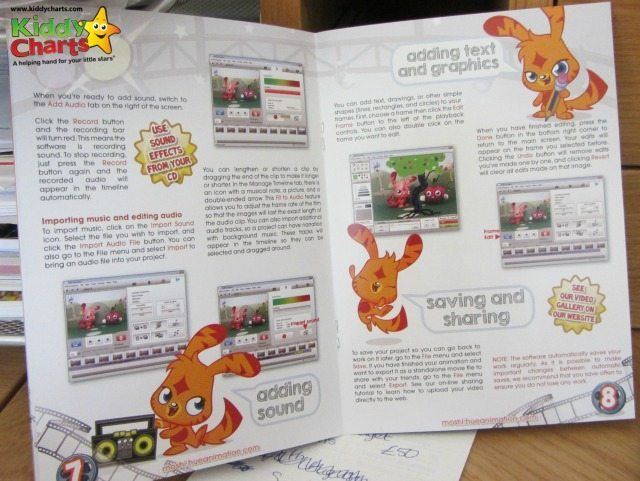 Simple language within the Hue Animation quickstart guide helps the kids...