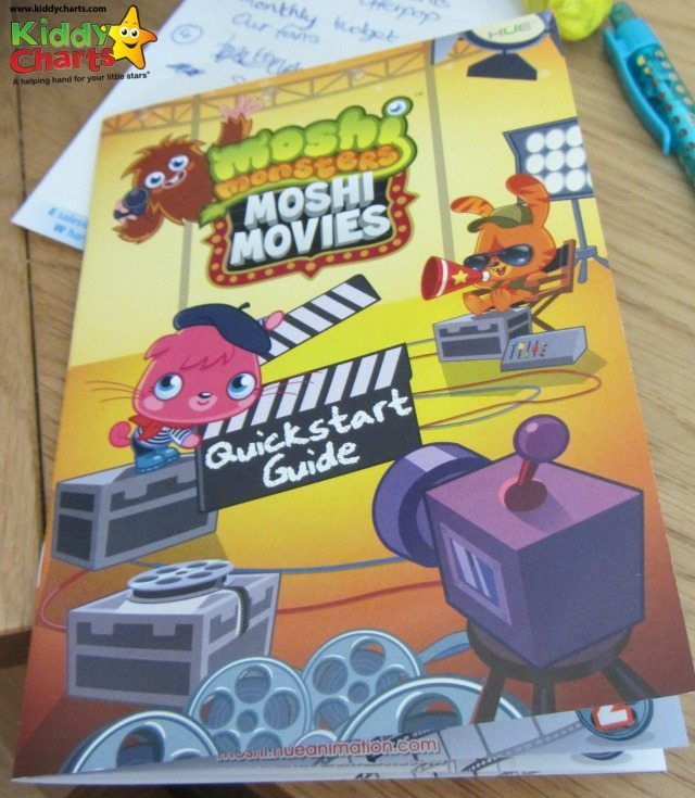 Moshi Monsters Hue Animation booklet - an easy to undeerstand Quickstart guide