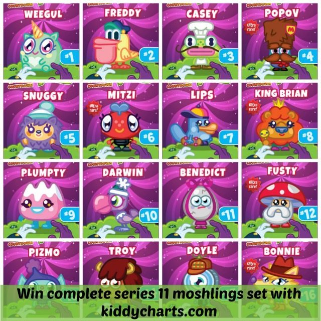 Moshi Monsters: All the moshlings in series 11