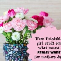 11 Mother's day gift ideas: Free printable gift cards for mums on Mothers Day for what they really want!