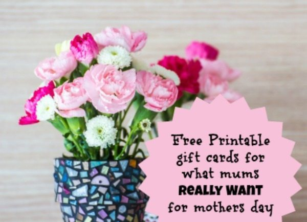 Mothers Day Gift Card Free Printables