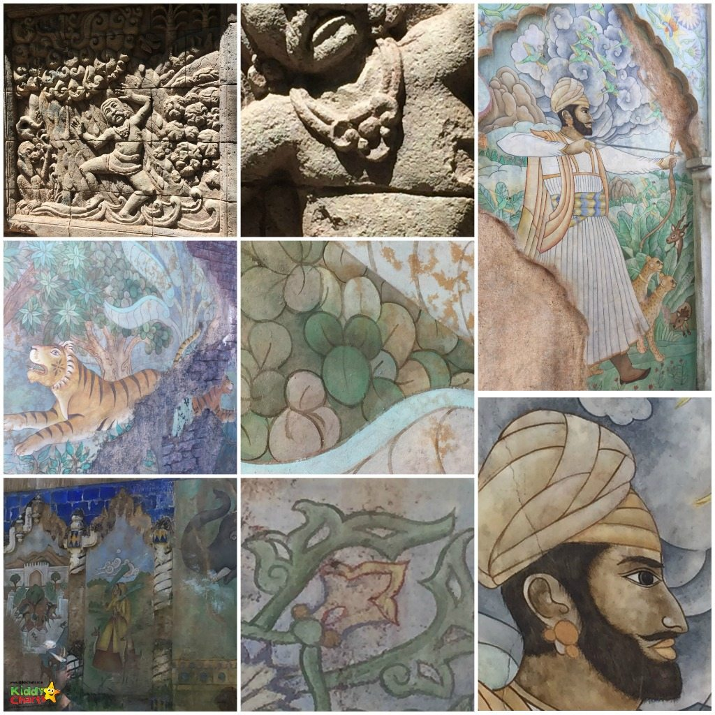 The Maharajah Jungle Trek murals and walls - keep a watch out for the hidden mickeys here!