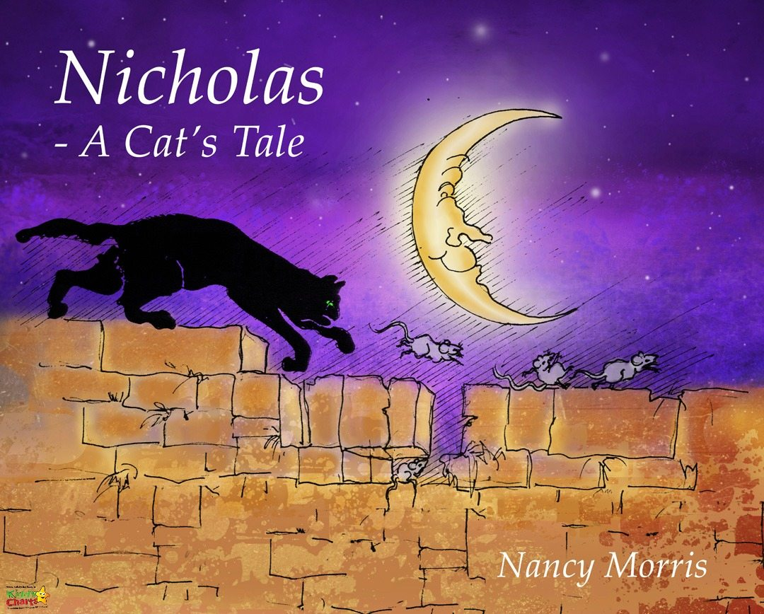 A CAts Tale Colouring Sheets; Nicholas and mice, and in the larder.