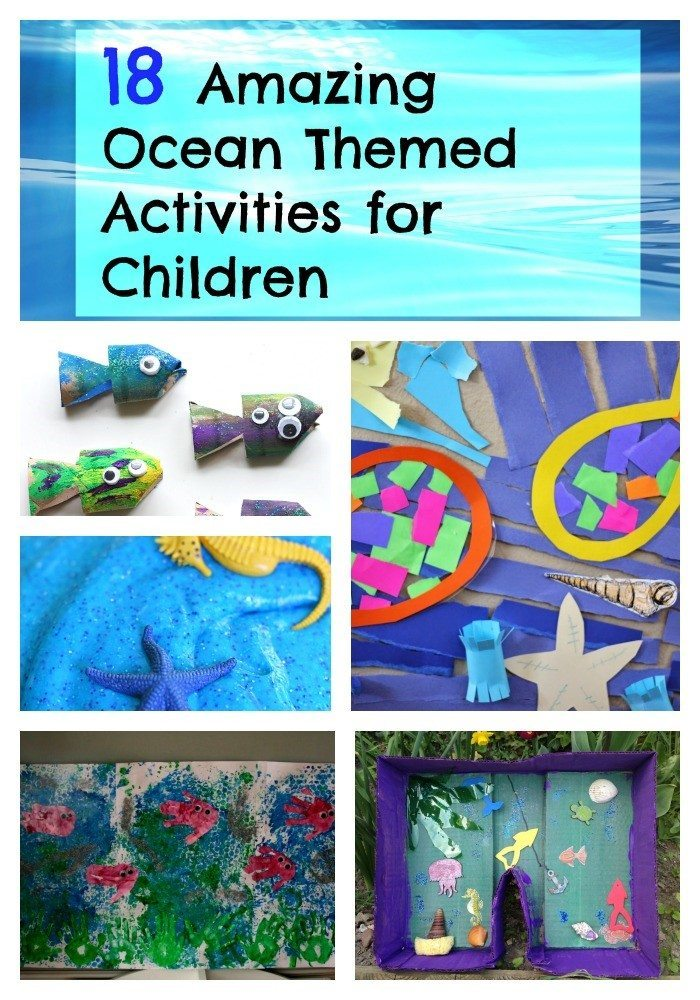 Take a look at our 18 Ocean themed activities for children