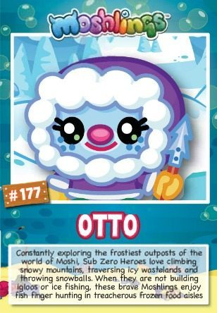 Moshi monsters series 10: Otto collectors cards