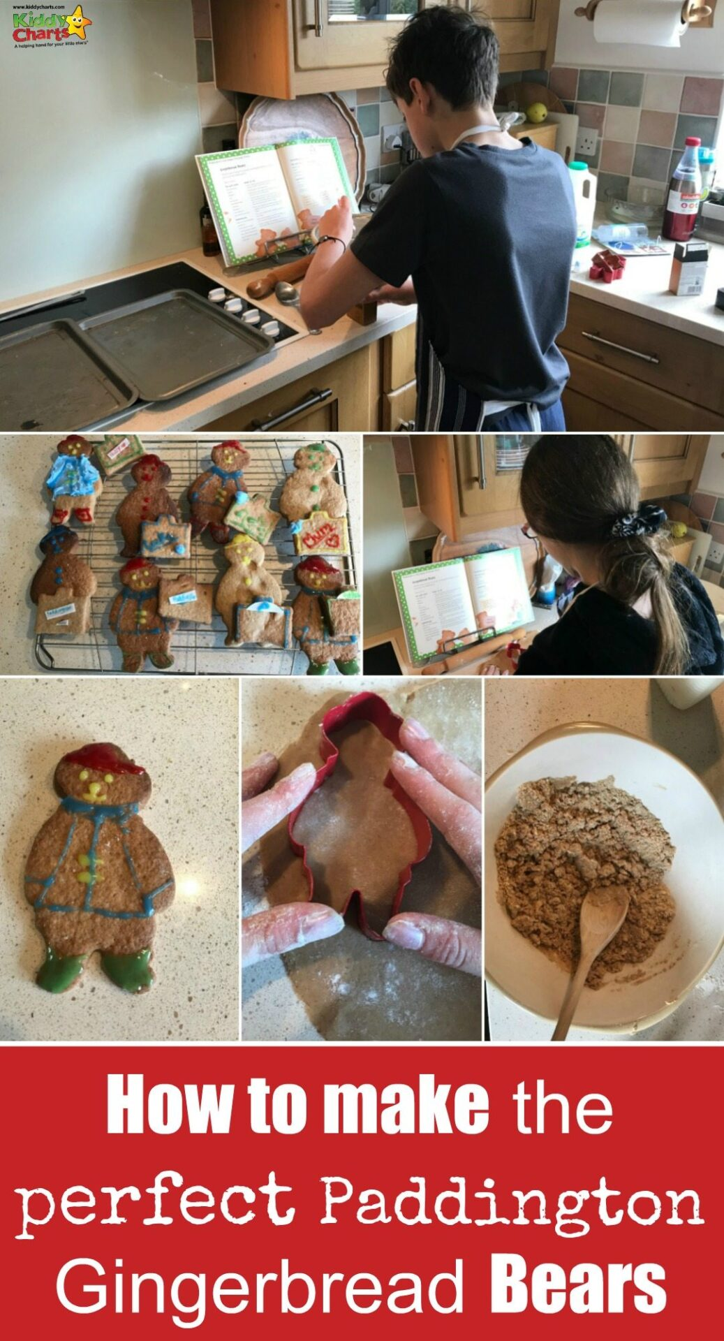 Do your kids love Paddington Bear - in which case they will LOVE this Gingerbread bears - so easy to make; in fact this 12 year old did?!? #Paddington2 #biscuits #cookingwithkids #gingerbread