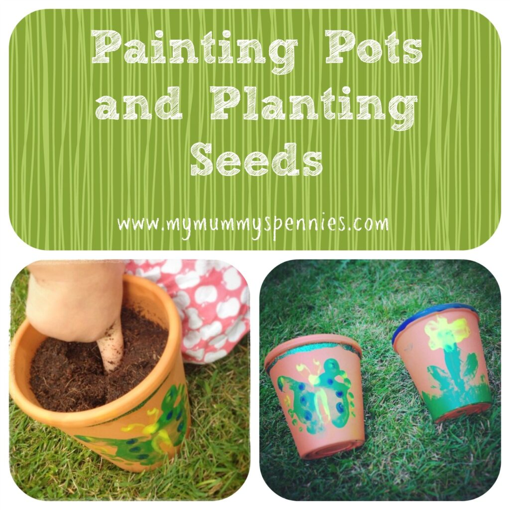 painting pots and planting