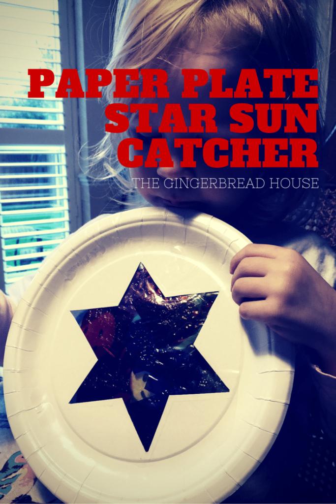 paper plate sun catcher