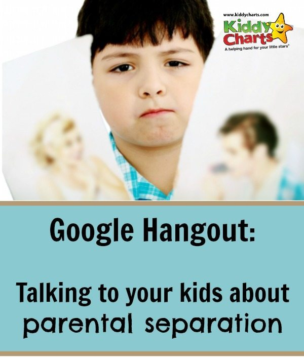 Parental separation can be a difficult time and this week we are discussing ways of approaching the subject with your children
