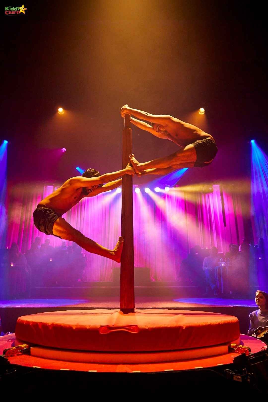 Some of the acrobats at Petite Soiree in London are just breath-taking.