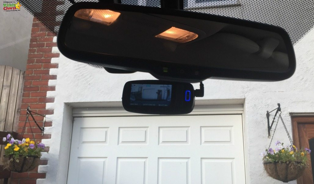 The Philips Dash Cam sits nicely underneath the windscreen - hidden well, but doing its job.