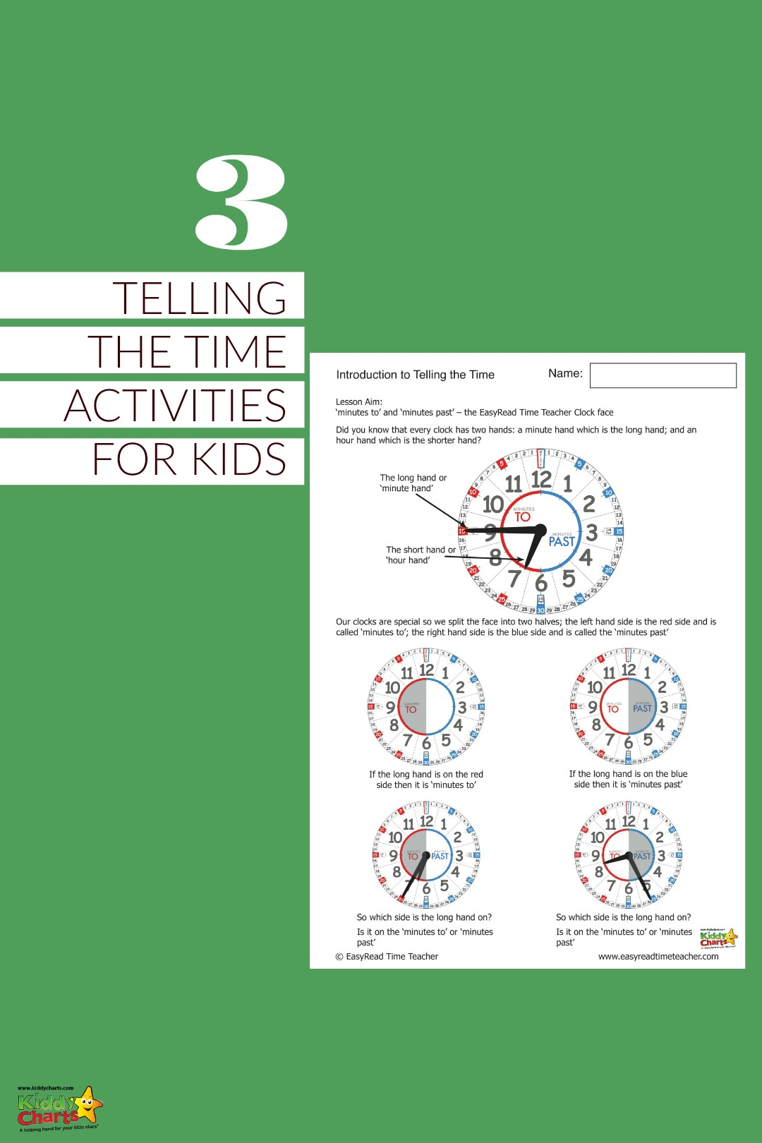 Telling the time worksheets for kids #homeschool #learning #kids #time