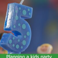 Planning a kids party with a mind map