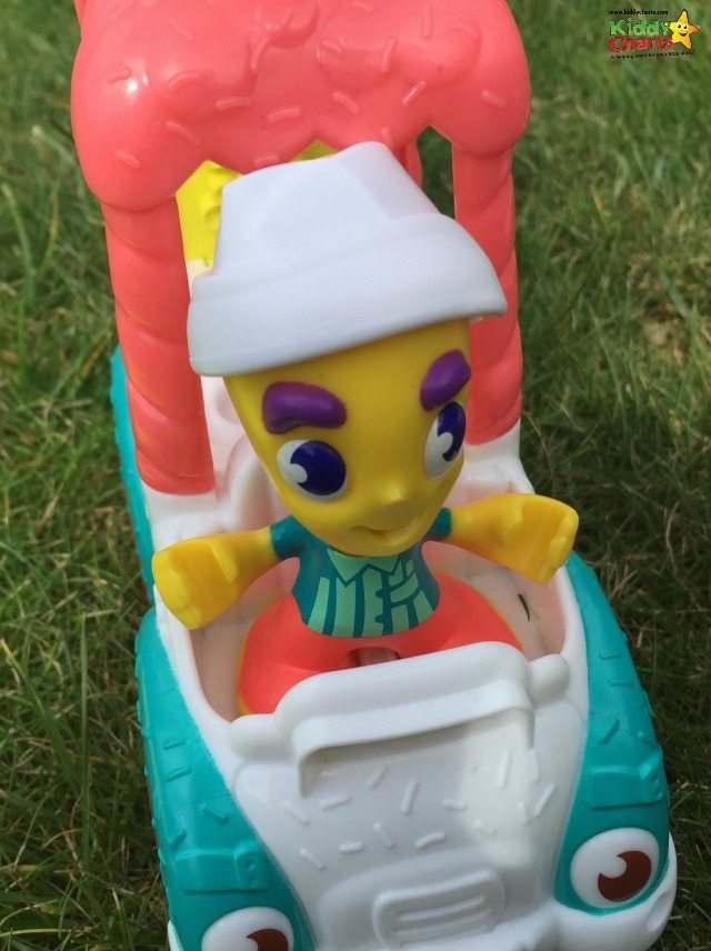 Here is the fantastic Ice Cream man from the Play Doh truck - what will he be giving you?