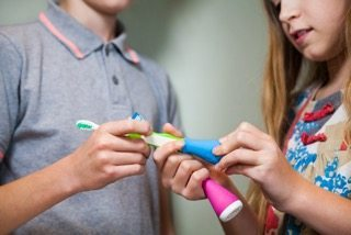 The Playbrush is a new way for the kids to brush their teeth - tech and teeth cleaning combined for a lot of fun!
