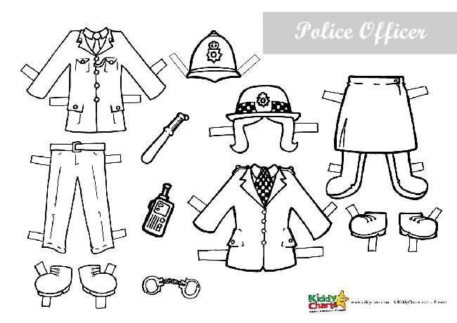 Policeman Paper Doll