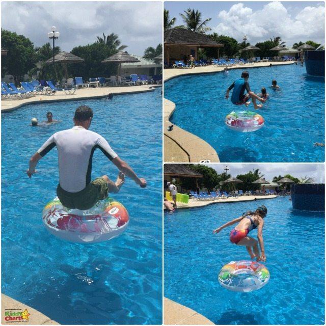 Verandah resport and spa in Antigua pool fun!