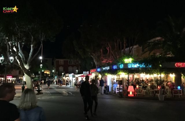The amazing night markets in Port Grimaud - the lights are captivating