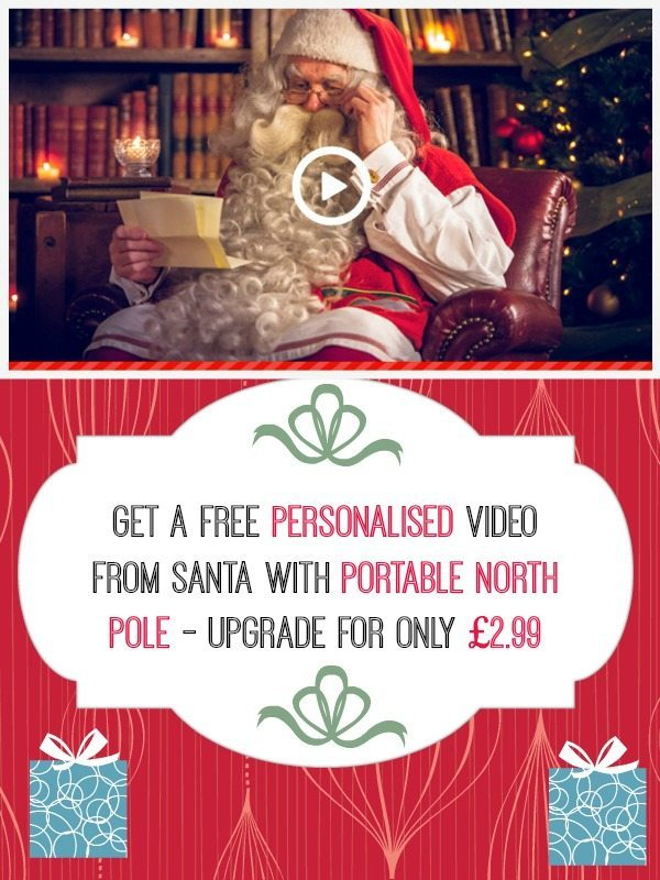Did you know you can get a FREE video message from Santa from Portable North Pole? Well you do now, don't you?