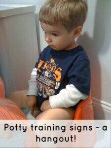 Potty training signs