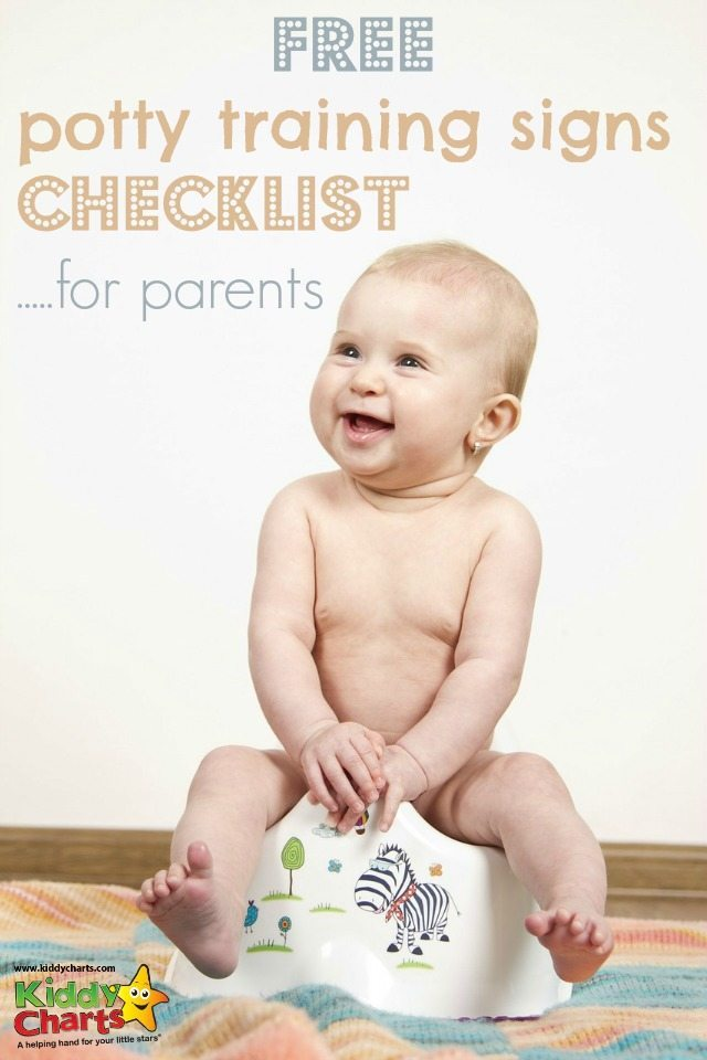 Is your little one ready for potty training? What are the potty training signs? We give you a little checklist to help them, and you, on your way!