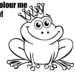 Free frog coloring page – it's a prince baby!