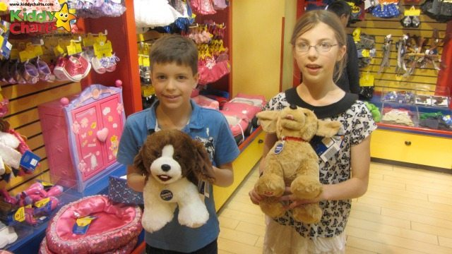 There are four choices of Promise Pets at the Build a Bear stores - my DD and DS decided to get these ones!