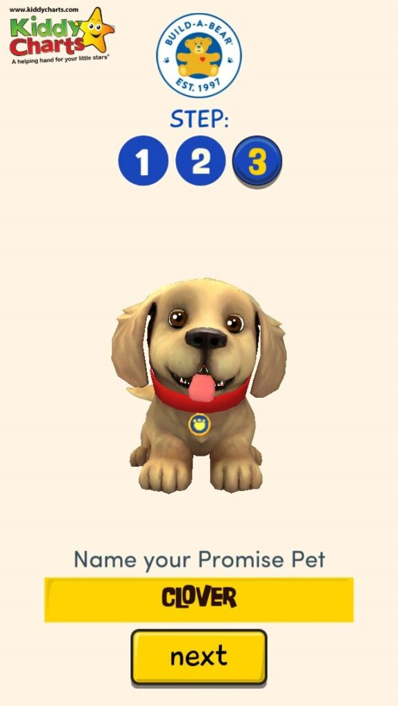 We test drove the Promise Pets from Buil-A-Bear - my DD gave her Golden Labrador the perfect name - Clover!
