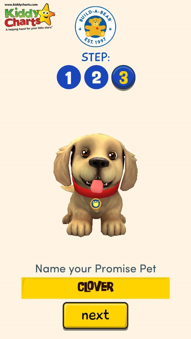 We test drove the Promise Pets from Build-A-Bear - my DD gave her Golden Labrador the perfect name - Clover!