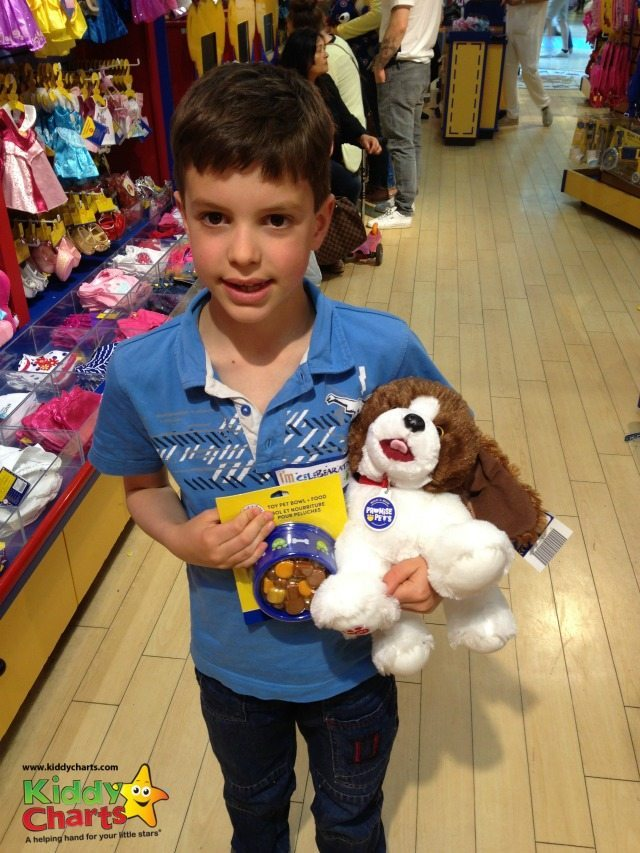There are a few accessories for the Build a Bear range - including the rather fab dog bowl which my son decided he would like for his dog.