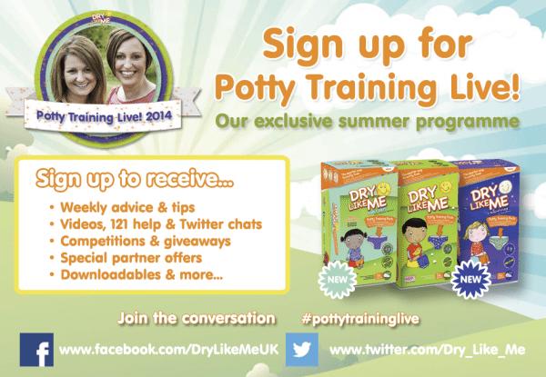 Potty Training Live Header