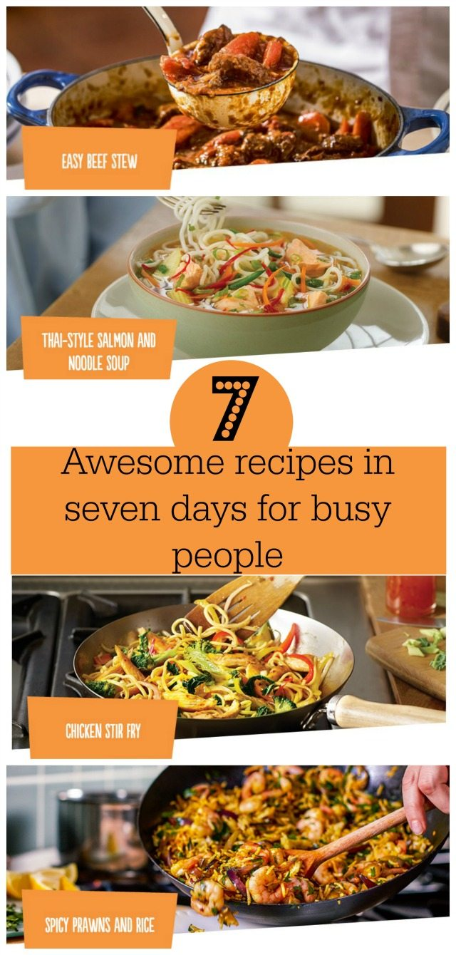 If you are a working parent, or just plain busy,. you need food that is fast to prepare; we have seven quick recipes for you in seven days...all taste great, and are simple and quick to do.