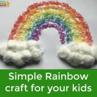 Simple rainbow crafts for kids: Rainbow rice funtime!