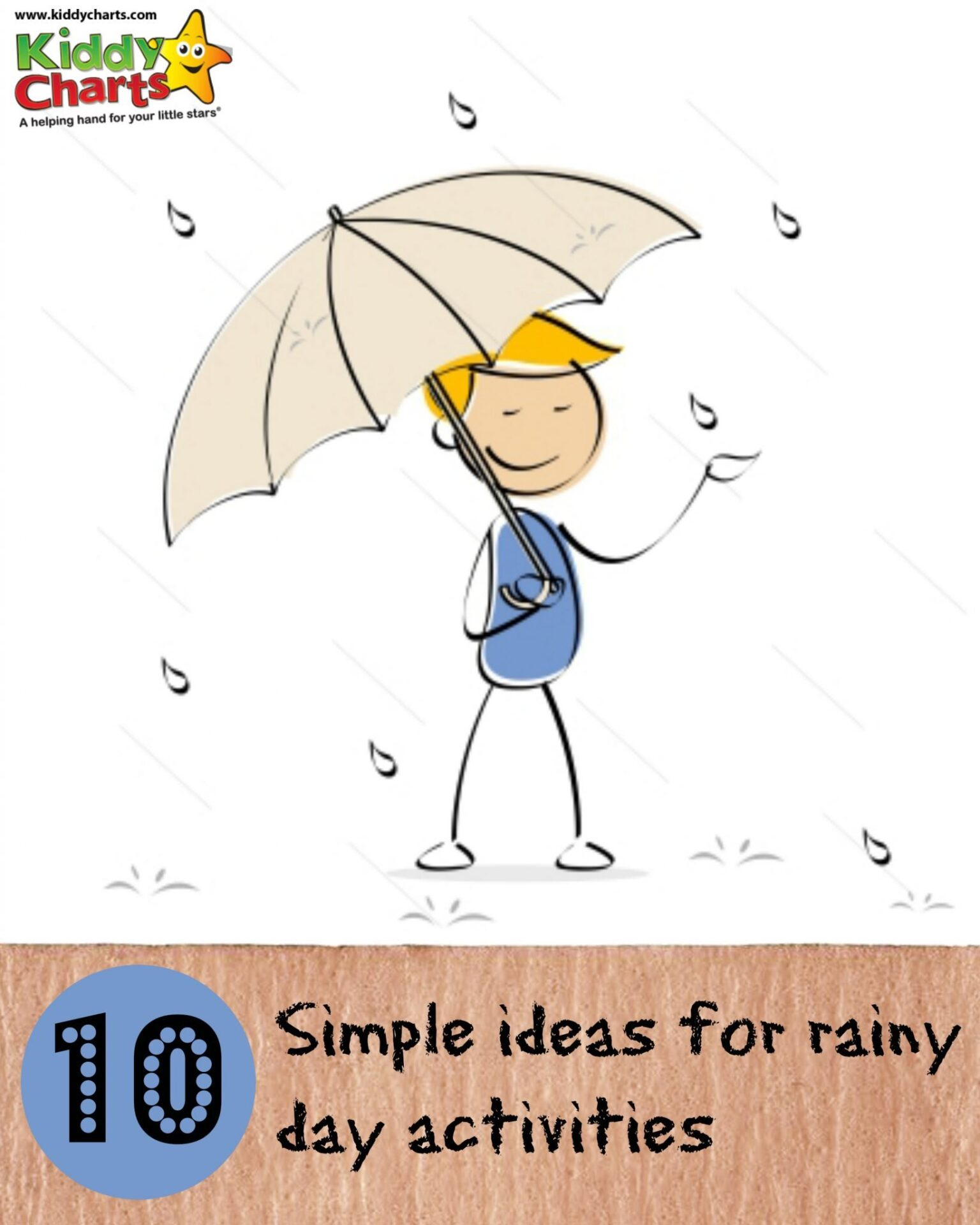 Sometimes we find it hard to come up with Rainy Day activities: here are some simple ideas to get you started, and some sites for inspiration. So GO!