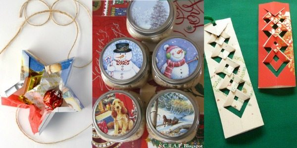 Crafty ideas for recycling Christmas Cards