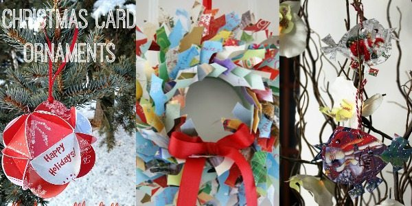 Recycling Christmas Cards: Decorations