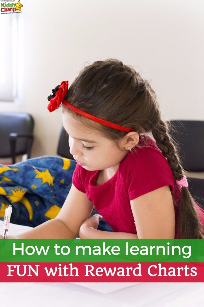 Using reward charts can really help your kids with their learning - check out our tips! #learning #kids #rewardcharts