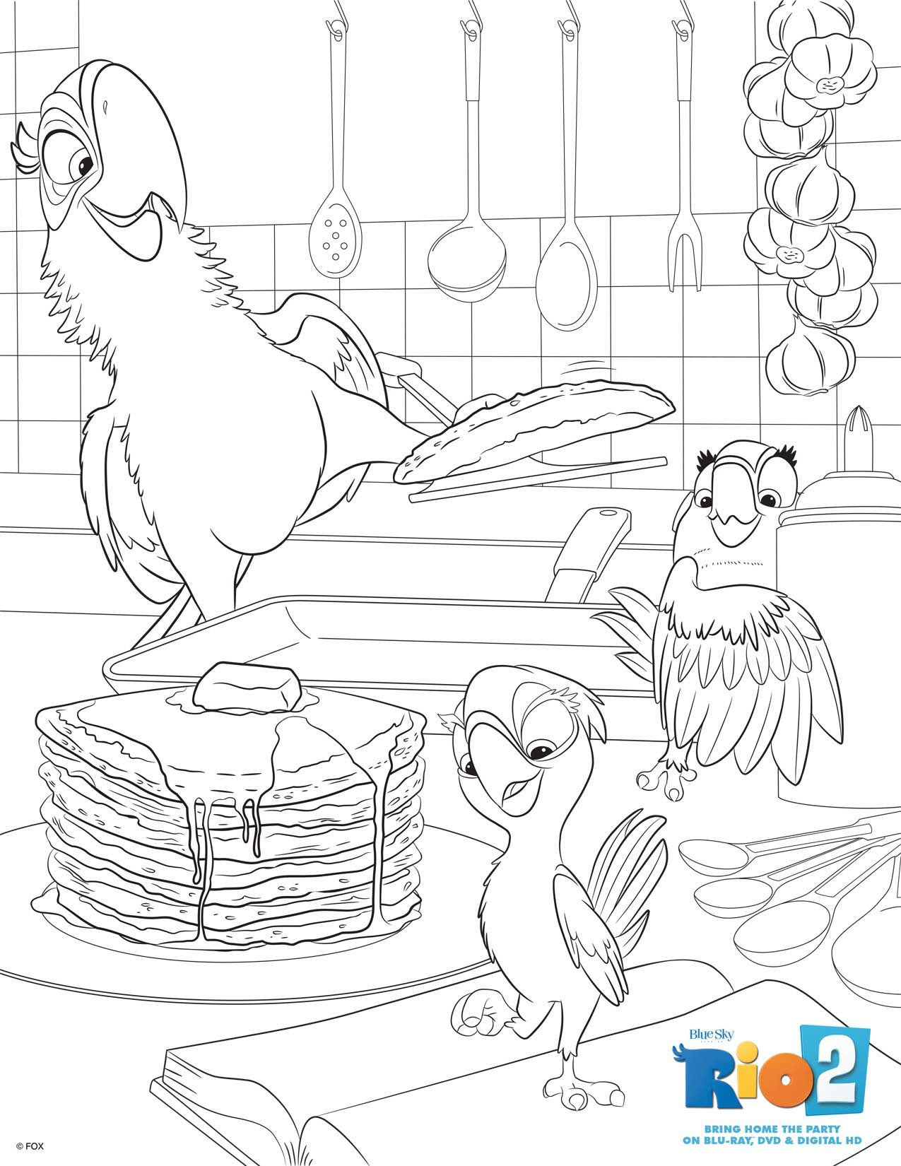 rio 2 colouring pages free downloads to enjoy this summer