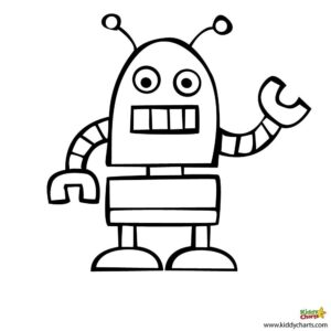 Robot Free Coloring Pages