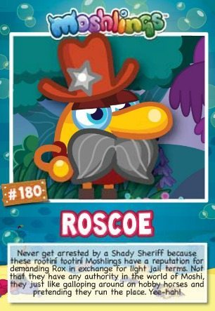 Moshi monsters series 10: Roscoe collectors card