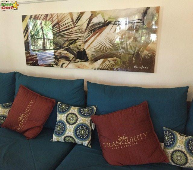 The sofa at the Verandah Tranquility spa in Antigua