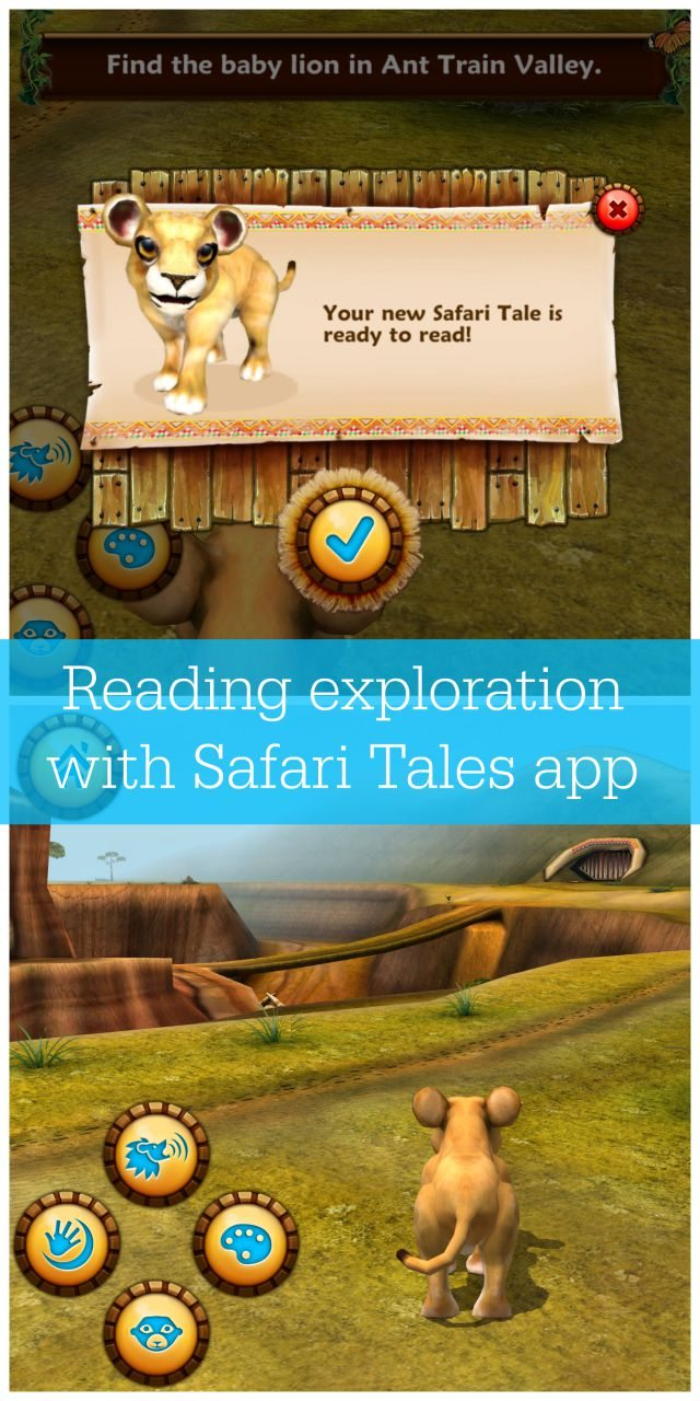 Are you looking to encourage a younger child to read? Then check out the Safari Tales app; a new app that builds a book from your child's gameplay.