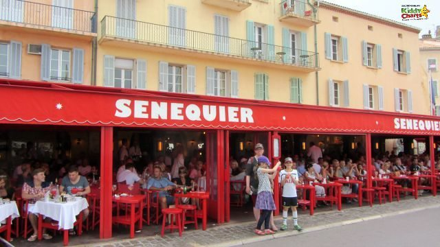 Senequier is THE restaurant in Saint Tropez where the rich and famous hang out...be prepared for a big dent in your wallet!