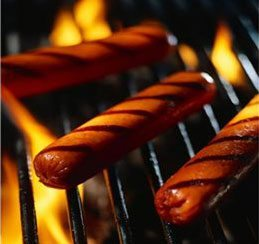 Sausages on the BBQ