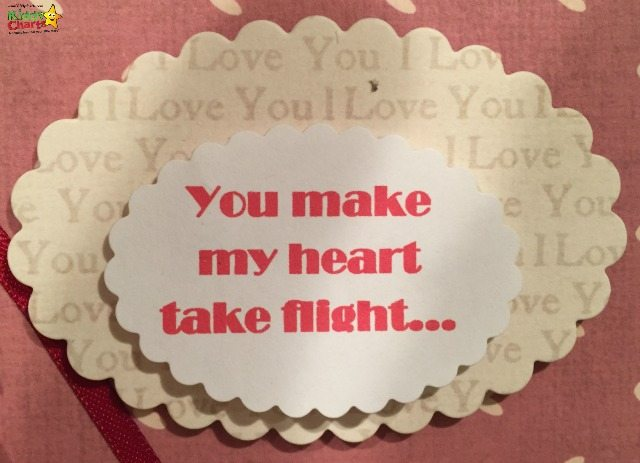 The sentiment for your kite valentines card is a simple one - you make my heart take flight...but its lovely and perfect for any valentines card, wouldn't you agree?