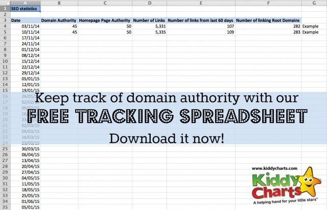 Are you a professional blogger? Do you need to keep track of your site performance for SEO? Download this free template for tracking Moz domain authority now!