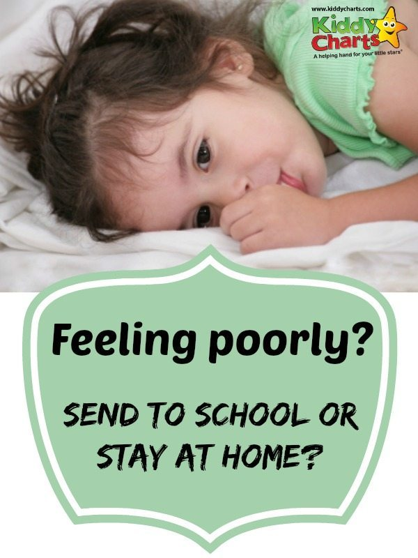 Do you have a sick child?  How do you make that call between sending your child to school or staying at home?