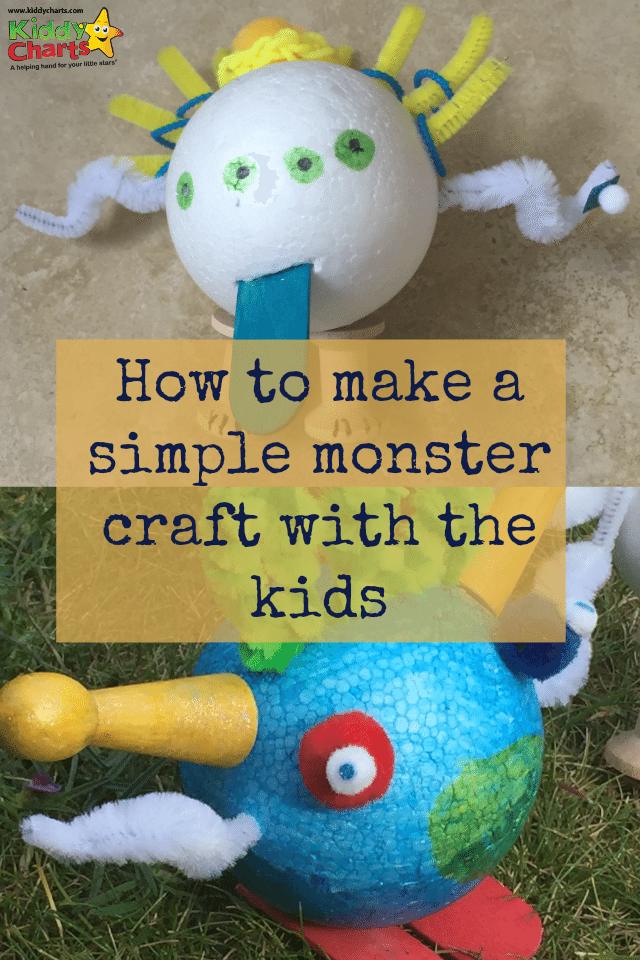 We have made a simple monster craft with the kids - have a monsters ball...or at least make a monster with one!